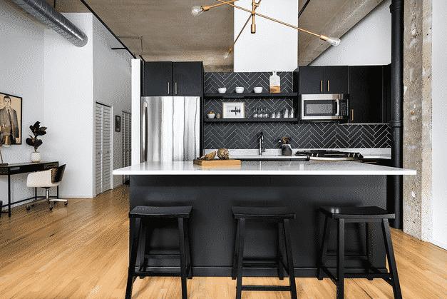Black Cabinets in Kitchen